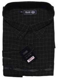 GS-110VA Double Ανδρικό πουκάμισο (μεγάλα μεγέθη) Χρώμα Καφέ/Μπλε
