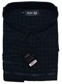 GS-110VA Double Ανδρικό πουκάμισο (μεγάλα μεγέθη) Χρώμα Μπλε/Μαύρο