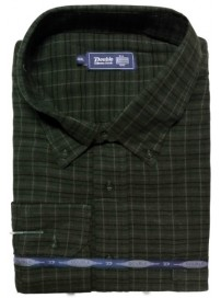 GS-110A Double Ανδρικό πουκάμισο (μεγάλα μεγέθη) Χρώμα Κυπαρισσί/Μπλε