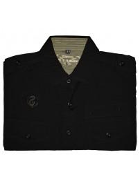 GS-127S Double Ανδρικό πουκάμισο με μακρύ μανίκι Χρώμα Μαύρο