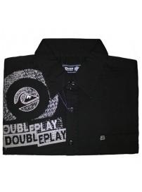 GS-128S Double Ανδρικό πουκάμισο με μακρύ μανίκι Χρώμα Μαύρο