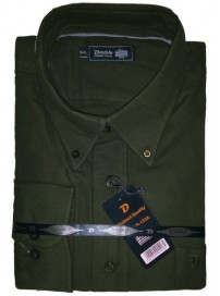 GS-133A Double Ανδρικό πουκάμισο (μεγάλα μεγέθη) Χρώμα Λαδί