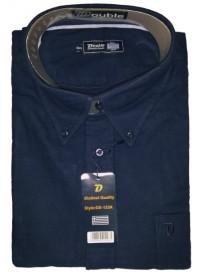 GS-133A Double Ανδρικό πουκάμισο (μεγάλα μεγέθη) Χρώμα Μπλε