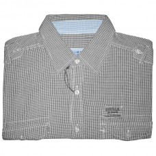 GS-170A Double Ανδρικό πουκάμισο με μακρύ μανίκι (μεγάλα μεγέθη) Χρώμα Μαύρο  Άσπρο 4f65f1bd26b