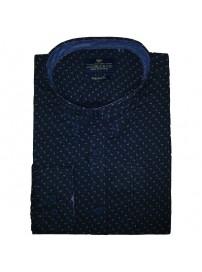 GS-448VA 17 Double Ανδρικό πουκάμισο (μεγάλα μεγέθη) Χρώμα Μπλε σκούρο
