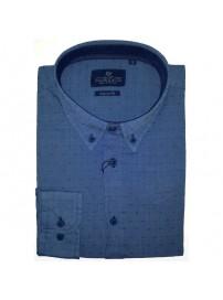 GS-448A 17 Double Ανδρικό πουκάμισο (μεγάλα μεγέθη) Χρώμα Γαλάζιο