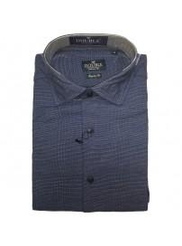 GS-455VA Double Ανδρικό πουκάμισο (μεγάλα μεγέθη) Χρώμα Μπλε