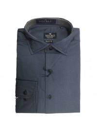 GS-455VA Double Ανδρικό πουκάμισο (μεγάλα μεγέθη) Χρώμα Γκρι