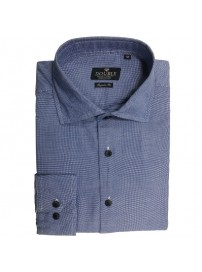 GS-455VA Double Ανδρικό πουκάμισο (μεγάλα μεγέθη) Χρώμα Γαλάζιο