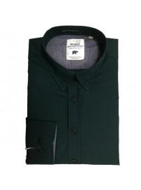 GS-456A Double Ανδρικό καρό πουκάμισο (μεγάλα μεγέθη) Χρώμα Πράσινο/Μπλε
