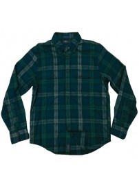 GS-468A Double Ανδρικό πουκάμισο (μεγάλα μεγέθη) Χρώμα Μπλε/Πράσινο