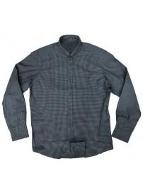GS-470 Double Ανδρικό καρό πουκάμισο Χρώμα Γκρι/Μαύρο