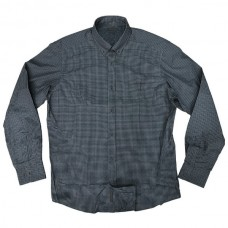 GS-470A Double Ανδρικό πουκάμισο (μεγάλα μεγέθη) Χρώμα Γκρι/Μαύρο