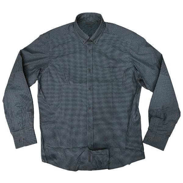 GS-470A Double Ανδρικό πουκάμισο (μεγάλα μεγέθη) Χρώμα Γκρι Μαύρο 9fa0b508dcd