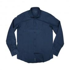 GS-471VA Double Ανδρικό πουκάμισο (μεγάλα μεγέθη) Χρώμα Μπλε