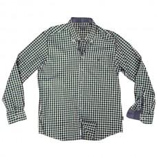 GS-473 Double Ανδρικό καρό πουκάμισο Χρώμα Πράσινο/Μπλε