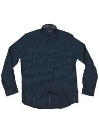GS-474VA Double Ανδρικό καρό πουκάμισο (μεγάλα μεγέθη) Χρώμα Πράσινο/Μπλε