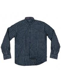 GS-474 Double Ανδρικό καρό πουκάμισο Χρώμα Μπλε/Γκρι