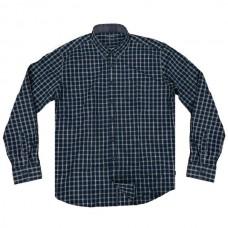 GS-474A Double Ανδρικό καρό πουκάμισο (μεγάλα μεγέθη) Χρώμα Μπλε/Γκρι
