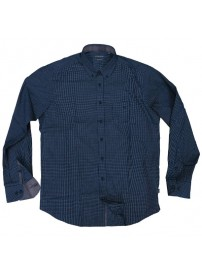 GS-474 Double Ανδρικό καρό πουκάμισο Χρώμα Μπλε/Άσπρο