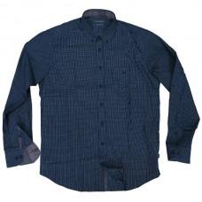 GS-474VA Double Ανδρικό καρό πουκάμισο (μεγάλα μεγέθη) Χρώμα Μπλε/Άσπρο