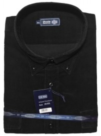GS-5VA Double Ανδρικό πουκάμισο (μεγάλα μεγέθη) Χρώμα Μαύρο