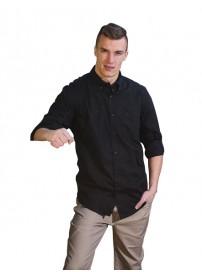 GS-8 Double Ανδρικό πουκάμισο Χρώμα Μαύρο