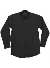 GS-8A 18 Double Ανδρικό πουκάμισο (μεγάλα μεγέθη) Χρώμα Μάυρο