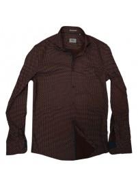 RGS-491VA Rebase All-Over Print Shirts (μεγάλα μεγέθη)(bordeaux)