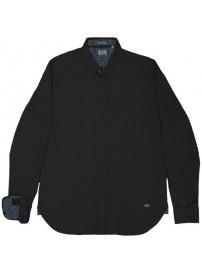 RGS-492VA Rebase Cotton Shirts (μεγάλα μεγέθη)(black)