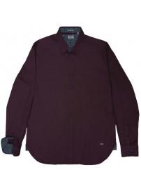 RGS-492 Rebase Ανδρικό πουκάμισο (dark wine)