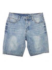 MJS-18A Double Denim Shorts (μεγάλα μεγέθη)(light blue)