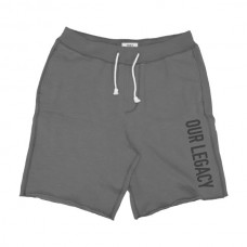 MS-15A Double Terry Fleece Shorts (μεγάλα μεγέθη) (grey)