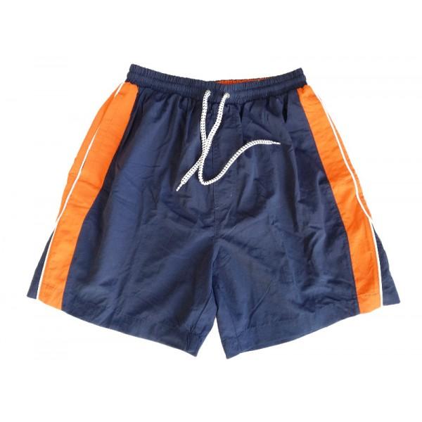 b00474727453 MTS-51 Double Ανδρική Βερμούδα-Μαγιώ Χρώμα Μπλε Πορτοκαλί