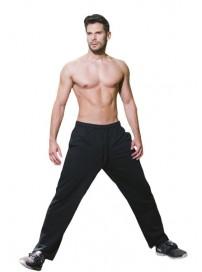 MPAN-8A 15 Double Ανδρικό αθλητικό παντελόνι φούτερ (μεγάλα μεγέθη) Χρώμα Μαύρο