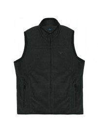 MFT-2A Double Full Zip Gillet Fleece (μεγάλα μεγέθη)(black)