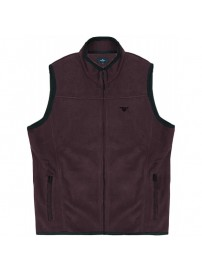 MFT-2A Double Full Zip Gillet Fleece (μεγάλα μεγέθη)(wine)