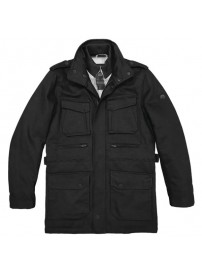 MJK-119A Double Premium Four Pocket Jacket (black) (μεγάλα μεγέθη)