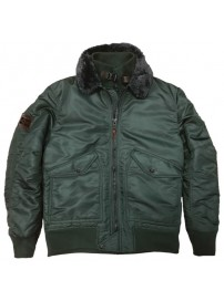 MJK-123A Double Fly Bomber Jacket (olive) (μεγάλα μεγέθη)