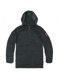 RMJK-113A Rebase Detachable Hood Parka Jacket (black) (μεγάλα μεγέθη)