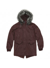 RMJK-118VA Rebase Cotton Parka Jacket (bordeaux) (μεγάλα μεγέθη)