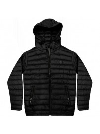 RMJK-131VA Rebase Hooded Puffer Jacket (μεγάλα μεγέθη)(black)
