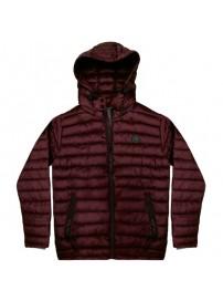RMJK-131 Rebase Hooded Puffer Jacket (dark wine)