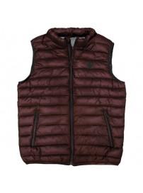 SMJK-07A Double Padded Vest (μεγάλα μεγέθη)(dark wine)