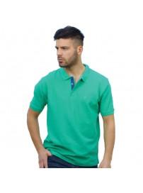 GS-32SVA 14 Double Ανδρικό Μπλουζάκι Polo T-Shirt (Μεγάλα μεγέθη) Χρώμα Πράσινο