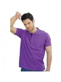 GS-32SVA 14 Double Ανδρικό Μπλουζάκι Polo T-Shirt (Μεγάλα μεγέθη) Χρώμα Μωβ