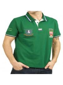 PS-149S 13 Double Ανδρική μπλούζα πόλο πικέ Χρώμα Πράσινο