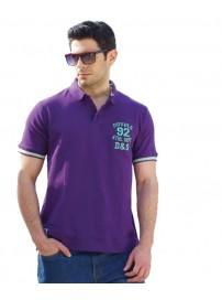 PS-170SVA Double Ανδρικό Μπλουζάκι Polo T-Shirt Χρώμα Μωβ