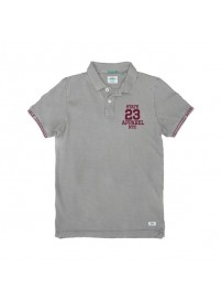PS-221S Double Polo Pique (grey melange)