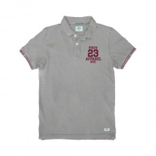 PS-221SVA Double Polo Pique (μεγάλα μεγέθη) (grey melange)